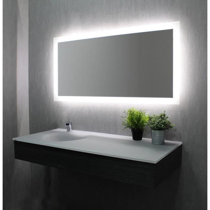 eclairage indirect salle de bain Miroir de salle de bains avec éclairage LED - Modèle Led 120 - 60 cm x 120  cm (HxL)