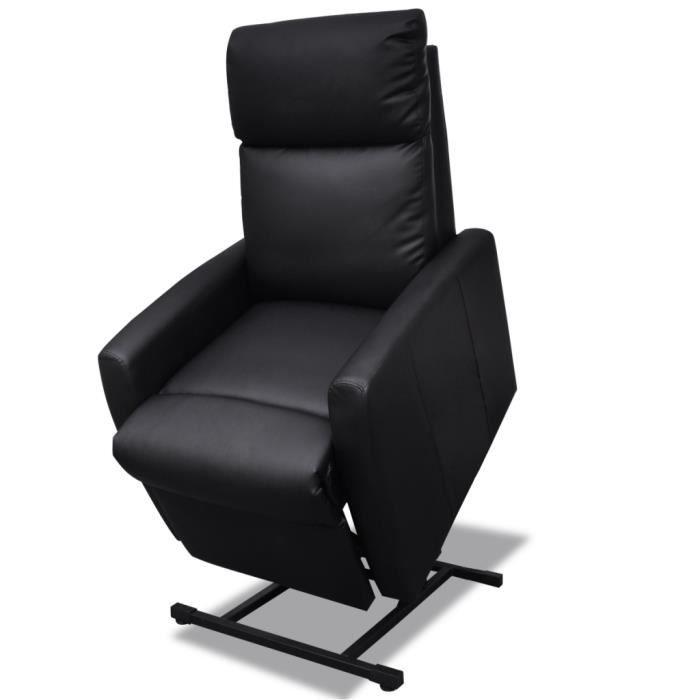 Fauteuil électrique Inclinable TV 2 Positions Noir Confort pour