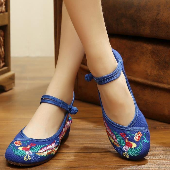 Ballerines Chaussures Femme Bleu