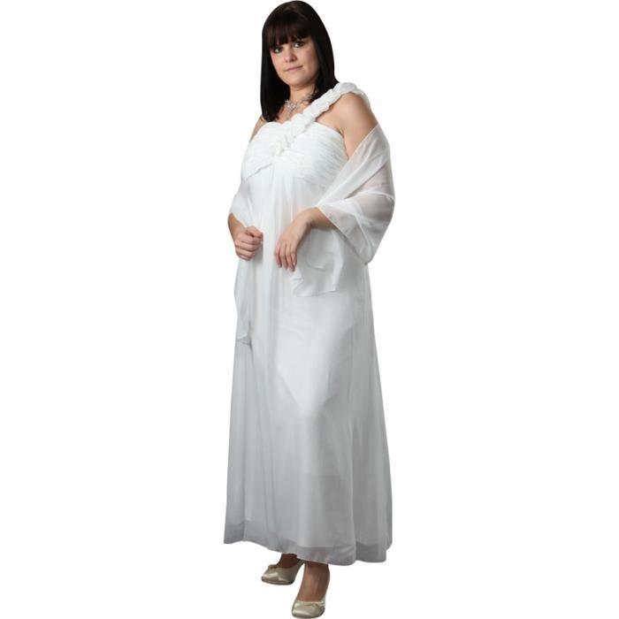 Robe de soiree grande taille ivoire