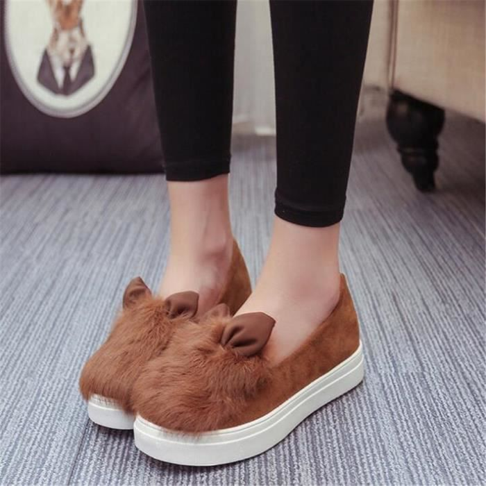 Femme oreilles Chaussures Marque De Luxe 2017 Nouvelle Mode Sneaker Grande