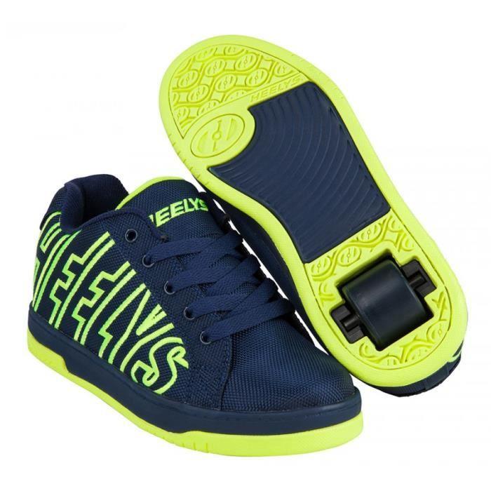 Split Bleu Heelys À 100052 Roulette Chaussures Jaune 8wnNm0vO