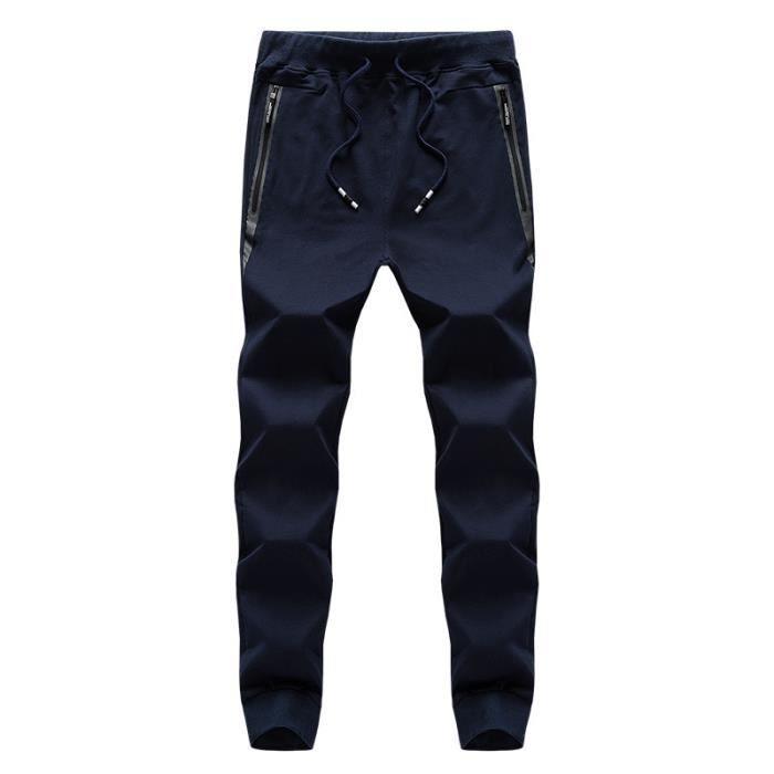 Pantalon de Jogging Homme Sport Stretch Taille Élastique Pantalon Sarouel  Léger Pour Fitness