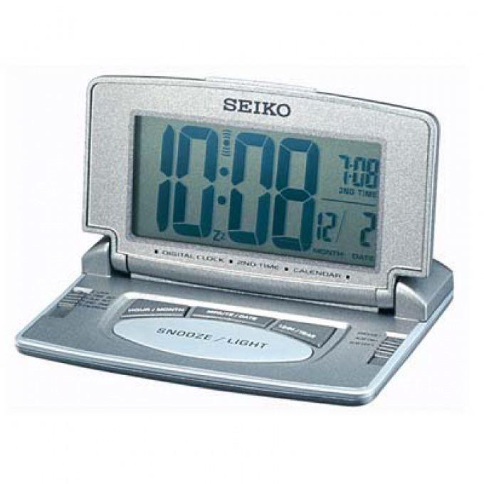 reveil de voyage metallise seiko montres achat vente r veil sans radio plastique soldes. Black Bedroom Furniture Sets. Home Design Ideas