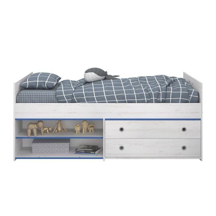 structure de lit switch lit enfant avec tiroirs dcor pin memphis - Lit Enfant Avec Tiroir