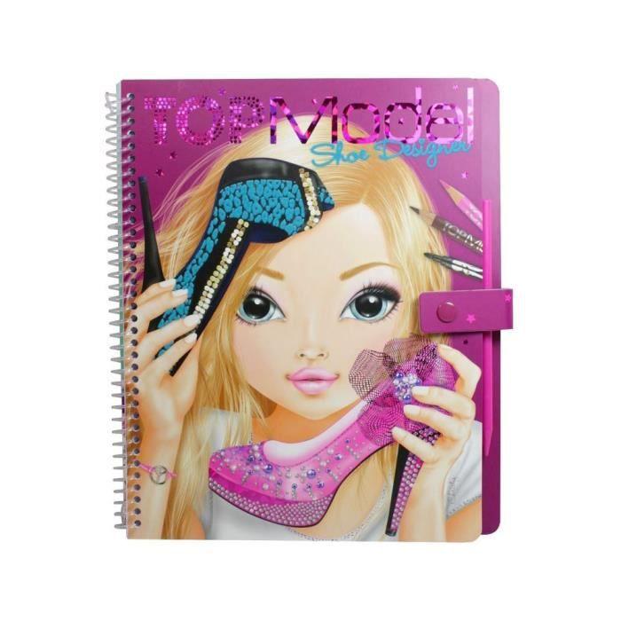 Top model album de coloriage styliste chaussures shoe - Album de coloriage top model ...
