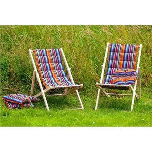 coussin avec dossier chaise jardin achat vente pas cher. Black Bedroom Furniture Sets. Home Design Ideas