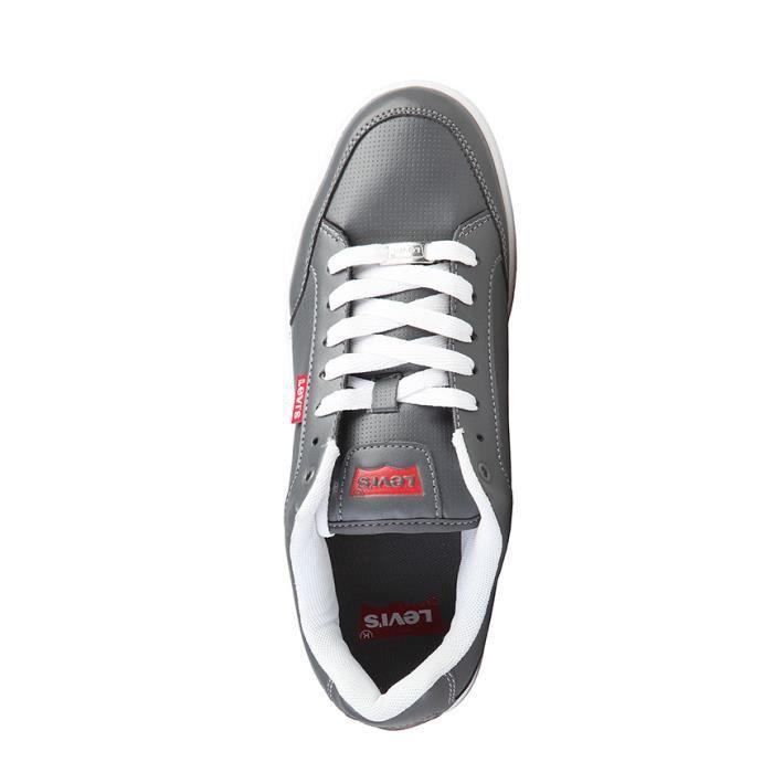 Levi's - Chaussures en cuir gris