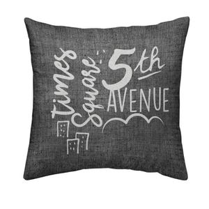 TODAY Coussin déhoussable Chambray Coton 5TH AVENUE - 40x40cm