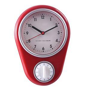 Horloge De Cuisine Rouge Achat Vente Pas Cher