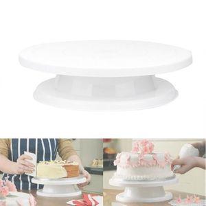 DÉCORATION PÂTISSERIE Plateau de décoration de gâteau rotatif tournant v