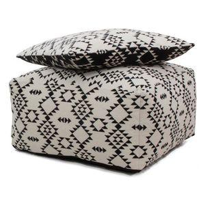 pouf blanc achat vente pouf blanc pas cher. Black Bedroom Furniture Sets. Home Design Ideas