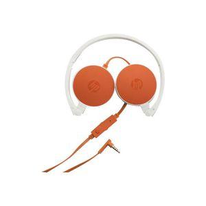 CASQUE AVEC MICROPHONE HP Casque audio orange H2800