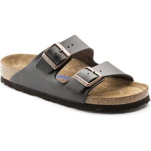 SANDALE - NU-PIEDS Birkenstock Arizona Smooth Leather Soft Footbed Wo