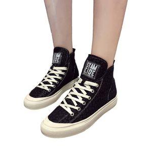 BOTTE femmes coton Chaussures Casual ronde à tête plate