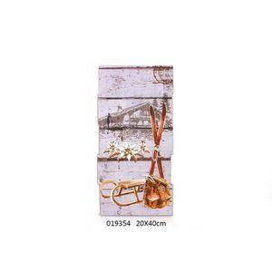 tableau toile tableau en bois dco montagne aoste 20 x 40 cm