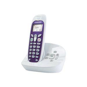 Téléphone Fixe Fil Résine Rétro FLEUR avec Combiné Répondeur Décor ... 9ecb082b527f