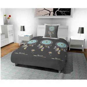 HOUSSE DE COUETTE SEULE Parure housse de couette 140X200 cm CHIMERE gris,