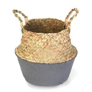 PANIER A LINGE TEMPSA Panier Seagrass Rotin Pliable Pot Plantes S