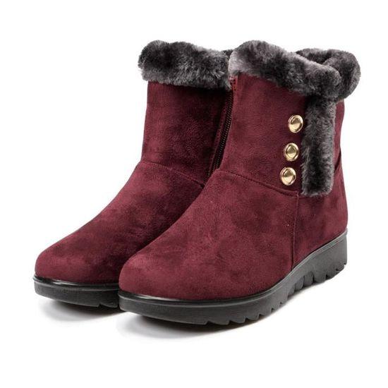 Neige Mesdames Martin Chaudes Short Chaussures Cheville Hiver Frandmuke3740 Bottes De Femme Fourrure La D2IWEH9