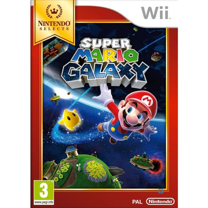 JEUX WII Super Mario Galaxy Selects Jeu Wii