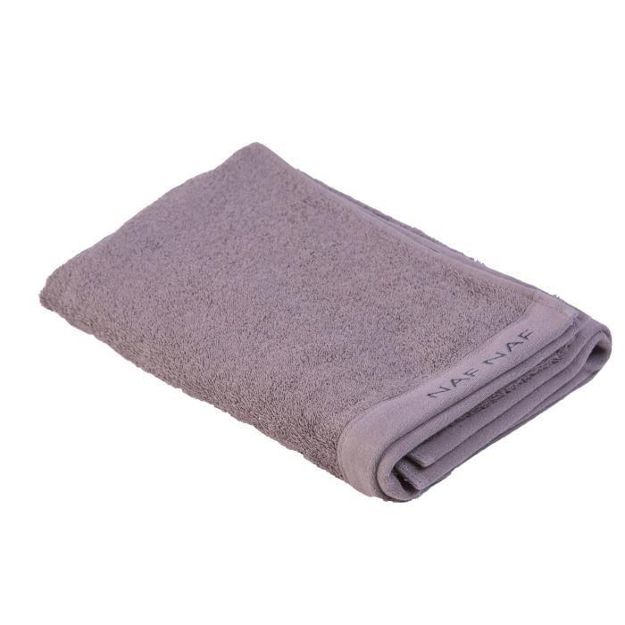 NAF NAF Drap de bain 100% coton Casual - 70x140 cm - Gris