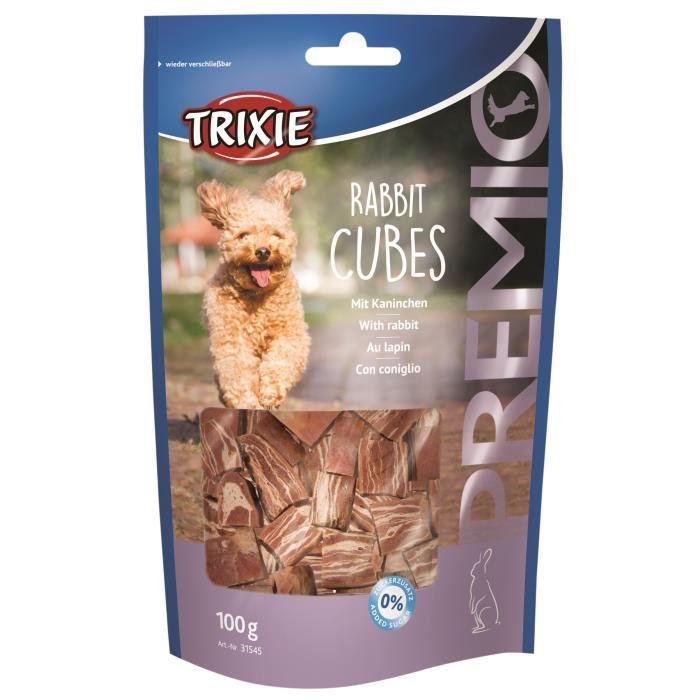 TRIXIE Rabbit Cubes Premio - 100g - Pour chien
