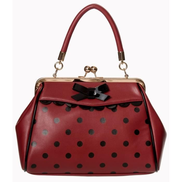 tout neuf b8019 24157 Sac pin-up Banned rouge à pois noirs