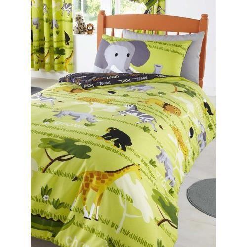 couvre lit jungle Parure de lit housse de couette Jungle Safari   Achat / Vente  couvre lit jungle