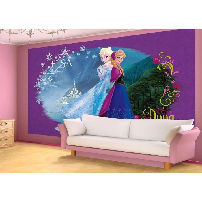 papier peint reine des neiges 254 x 416 cm – fresque murale elsa