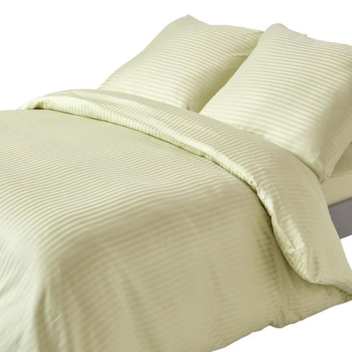 Parure De Lit Vert.Parure De Lit Vert Sauge 100 Coton Egyptien 330 Fils 240 X 220 Cm