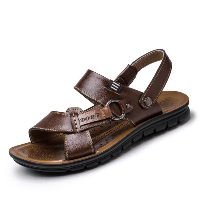 Respirant hommes sandales d'été hommes pantoufl...