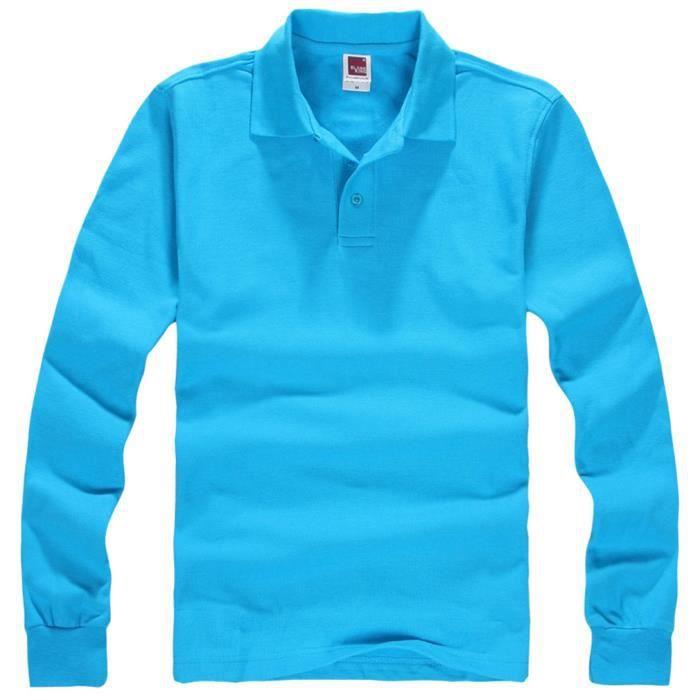 Coton Homme T Automne Veste Longue Hiver Manche Chemise Shirt Col SESq5aw