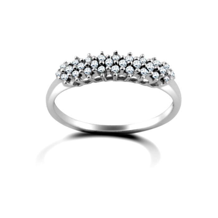 Jewelco London Dames Or blanc 9k 0.25ct Diamant éternité bague 4mm