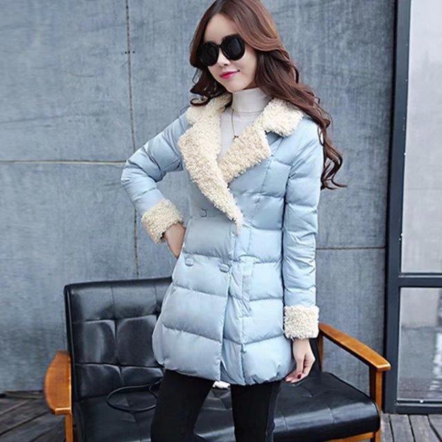 Mode Chaud Nouvelle Épaisseur Couleur Moyen rouge Manteau bleu Noir Mince Solide Femmes Long Doudoune 1vXSvd