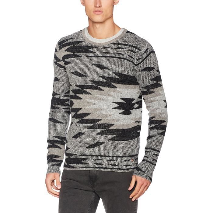 Sons Sons Jacquard Onshadar Taille Gris Knit amp; amp; Homme Only M 1qrol9 Pull qwaP5Wx