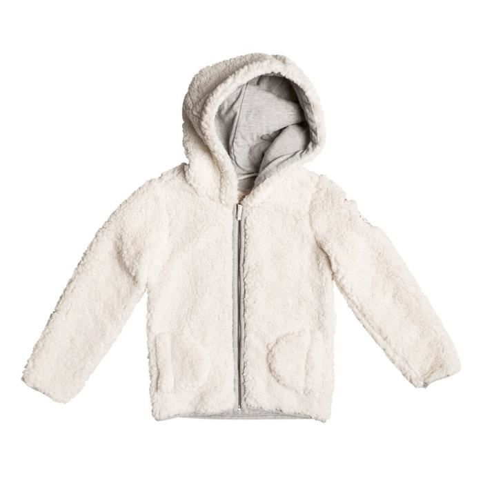Zip Hit Sack 5 Taille Blanc Capuche The Fille Sweat Roxy Ans wpIqdSxp