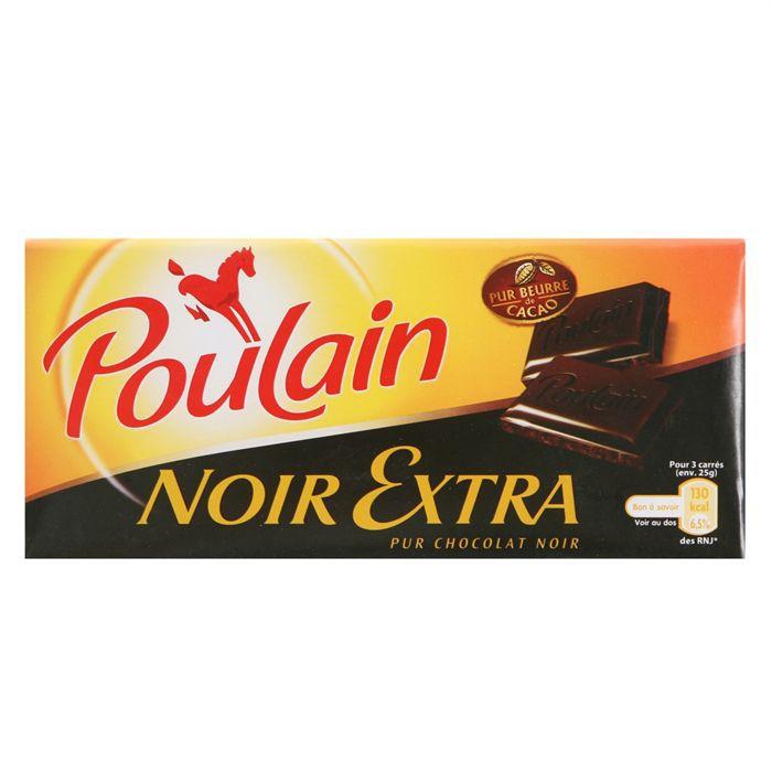 Poulain Noir Extra 200gr Achat Vente Chocolat Noir