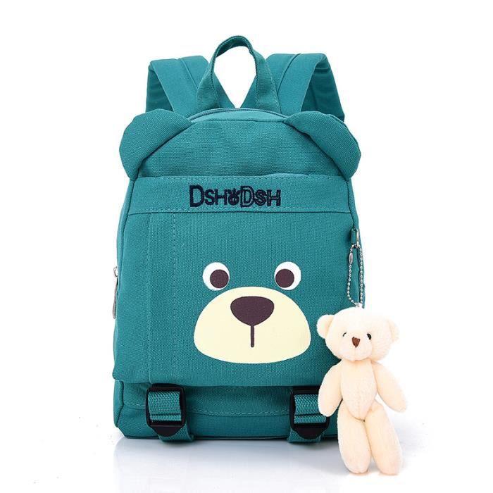 New Cute Kids Sacs scolaires Cartoon Bear Dolls Sac à dos en toile Mini-bébé Sac à livres pour enfants Sacs à dos pour maternelle