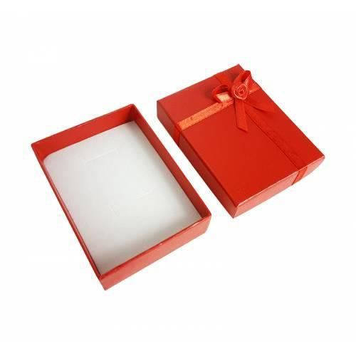 12 écrins bijoux de couleur rouge coquelicot 8.5x6.5cm - 10052 Rouge