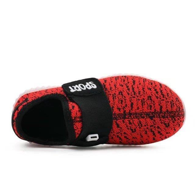 Shoes 37 Mesh Charge Incandescent taille filles Grande et USB Casual Enfant Souplesse LED 25 Sneaker Soleil Luminous Garçons XqUSSg