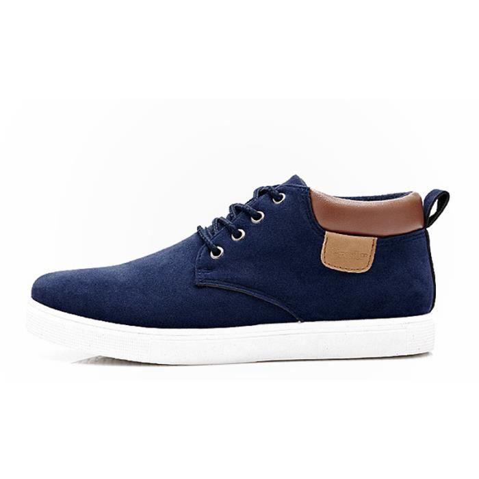 Chaussures En Toile Hommes Basses Quatre Saisons Durable XX-XZ116Bleu42