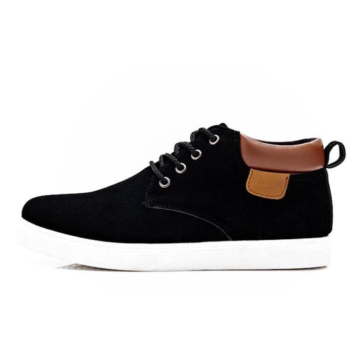 Chaussures En Toile Hommes Basses Quatre Saisons Populaire TYS-XZ116Noir41 ZLH95