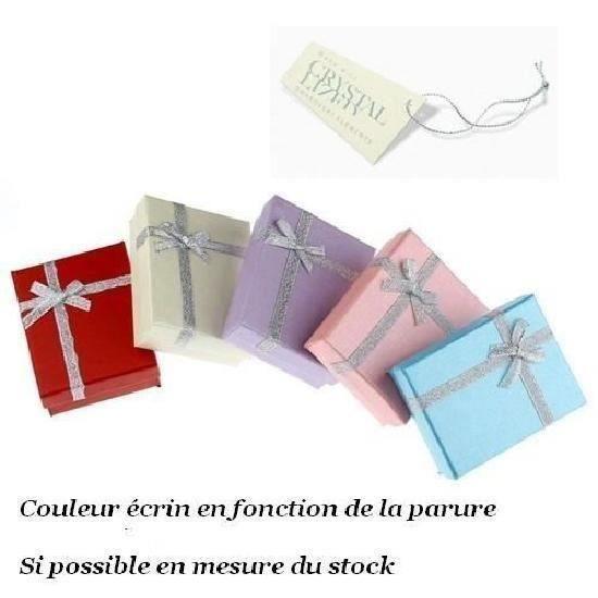 SWAROVSKI ® ELEMENTS Parure Bijoux Collier et Boucles dOreille Cristal Vert