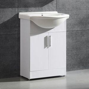 SALLE DE BAIN COMPLETE Meuble lave mains avec vasque en céramique et l'ar