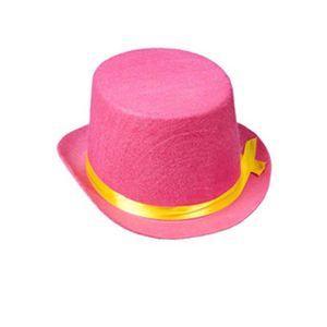 ACCESSOIRE DÉGUISEMENT Clown de cirque enfants taille rose chapeau haut d