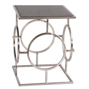 TABLE D'APPOINT Casa Padrino luxe salon table d'appoint argent / n