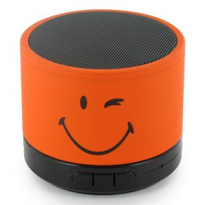 ENCEINTE NOMADE MOBILITY LAB Enceinte filaire Smiley World Orange