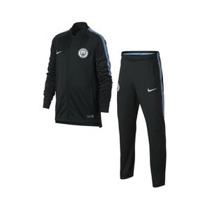 TENUE DE FOOTBALL Survêtement Manchester City Squad Noir Junior