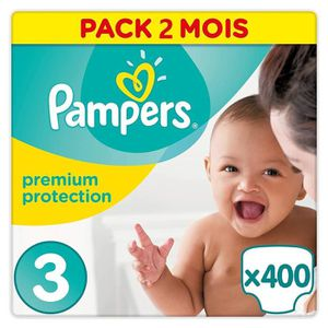 COUCHE PAMPERS New Baby Taille 3 (6-10kg) 400 couches - F
